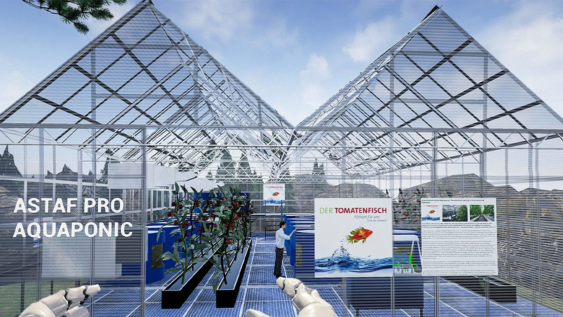 Immersive Virtual Reality Visualisierung einer virtuellen Fischzucht Anlage/ Aquaponic